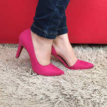 Scarpin Pink Solado Vermelho