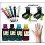 Kit Tinta Recarga Cartuchos Impressora Hp + Snap + Solução +