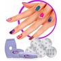 10x Kit Salon Decoraçao Unha Carimbo Manicure 5 Placas