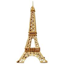 Torre Eiffel - Quebra Cabeça 3d Brinquedo De Madeira Wamdoo