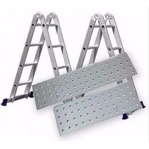 Escada Multifuncional 4x4 16 Degraus Com Plataforma Mor
