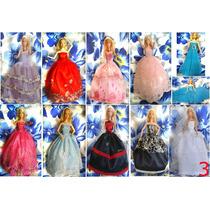 Mega Lote 10 Vestidos + 20 Pares De Sapatos Boneca Barbie !