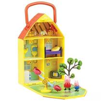 Casa Com Jardim Da Pepa Pig + Acessórios Frete Gratis