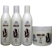 Kit Profissional Hidratação Mandioca + Ojhon Silicone Stillo