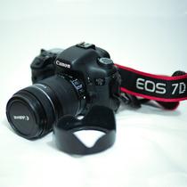 Canon 7d + Parasol+lente Kit+ Bater Grip+carregador + Cartão
