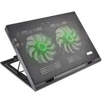 Cooler Para Notebook Warrior Power Gamer Led Verde - Ac267