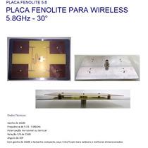 Placa Fenolite Setorial Wireless 16dbi 5.8ghz 30 Graus Wifi