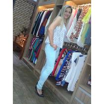 Calça Jeans Feminina Skinny Colors Sawary Com Nota Fiscal