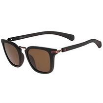 Óculos De Sol Calvin Klein Jeans Preto Com Lente Marrom