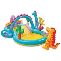 Piscina Playcenter Infantil Floresta Dinos 280 Litros Intex