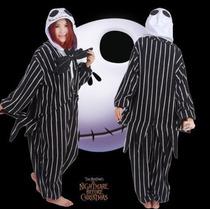 Pijama Adulto Macacão Estranho Mundo De Jack Filme Com Capuz