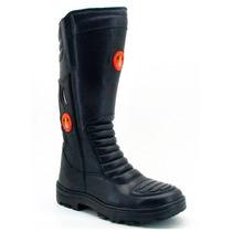 Bota Atron Shoes 276 Couro Samu Bombeiro Civil Policia Tátic