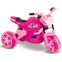 Mini Moto Elétrica Infantil Minnie Disney Rosa - Xalingo