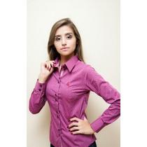 Camisa Social Feminina - Dortmund - Camisa Maquinetada Pink