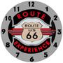 Relógio Parede Mdf Bar Carro Moto Estrada Route 66