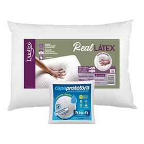 Kit Travesseiro Real Látex 50x70cm Duoflex Com Capa