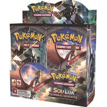 Box 36 Boosters Pokémon Sol E Lua 3 Sombras Ardentes Darkrai