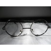 Armação/óculos Redondo 41 Mm Grafite Sem Lentes Para Grau