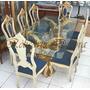 Mesa De Jantar Estilo Classico C/ 08 Cadeiras