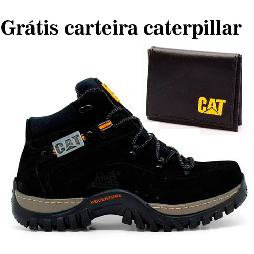 26f3f7b951 Kit Bota Adventure Caterpillar + Palmilha Gel Carteira Cint