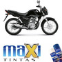 Tinta Spray Automotiva Honda Motos Preto Cg + Verniz 300ml