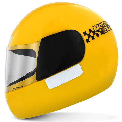 Capacete Fechado Pro Tork Liberty X Moto Taxi Amarelo