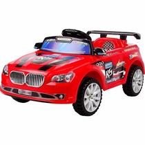 Carro Elétrico Com Controle Remoto Vermelho Suporta 25kg