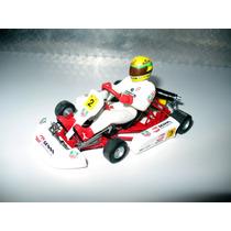 Miniatura Ayrton Senna Kart Paris Berci Minichamps 1:18