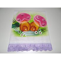 Pano De Prato Pintura Artesanal Kit Com 10 Unidades