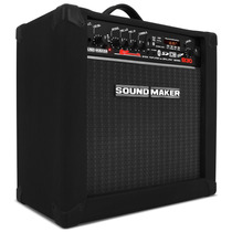 Caixa Contra Baixo Amplificada Sound Maker Para Cube B30 Som