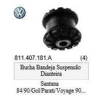 Bucha Bandeja Gol Saveiro Santana Parati Original Vw C/logo