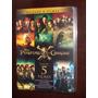 Box Dvd Coleção Piratas Do Caribe - 5 Discos Dublado