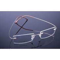 Armação Dourada Óculos De Grau De Titanium Sem Aro - A578