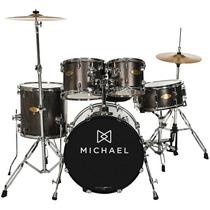 Bateria Michael Classic Pro Dm843 + Pratos + Banco Completa