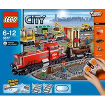 Lego City - Trem De Carga Vermelho - Red Cargo Train - 3677
