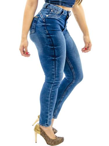 b833d12054 Kit 3 Calças Jeans Feminina Cintura Alta Hot Pants Luxo