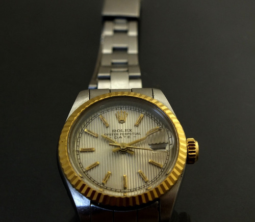 bb4e653dafd Relógio Pulso Feminino Rolex Calendário Em Aço Ouro J19985. R  5299