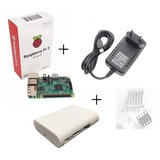 Kit Raspberry Pi3 Model B +fonte  + Case+ Dissipador