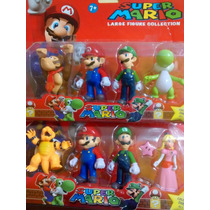 Super Mario Collection Kit Com 4 Personagens