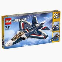 Brinquedo Lego Creator 3 Em 1 Avião A Jato Azul 31039