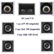 Kit 7.0 Caixa Acústica De Gesso Loud Lht80 + Sl6100