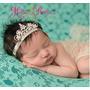 Headband Tiara De Elástico Bebês Newborn Coroa Prata-dourada