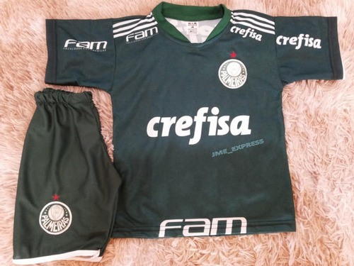 Conjunto Infantil Do Palmeiras Uniforme Camisa E Shorts. R  32.9 b72cd02101322
