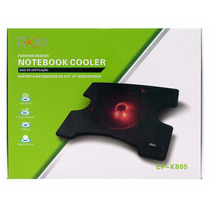 Base Para Notebook Ventoinha Led Vermelho Com Apoio E Hub