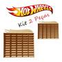 Kit 2 Estantes Porta Hotwheels 50 Carrinhos Mdf Mega Oferta Original