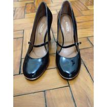 Lindo Sapato De Couro Anabela Original Da Arezzo Nº 38 Novo