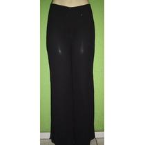 Calça Pantalona Crepe De Seda Tamanho M
