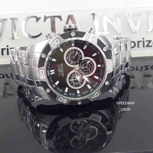 7ea6e895956 Relógio Invicta Speedway Ref 25838 Original Prata Com Preto. Preço  R  649  Veja MercadoLibre