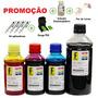 imagem de 1350ml -kit Tinta Recarga Cartuchos Impressora Hp + Sna...