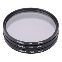 Filtro 67 Mm Kit (uv+cpl+fld) Canon Nikon Pronta Entrega